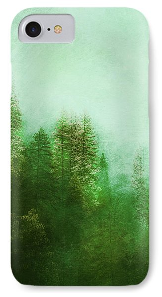 IPhone Case featuring the digital art Dreamy Spring Forest by Klara Acel