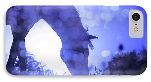 Dreamy Sunrise In Blue IPhone Case
