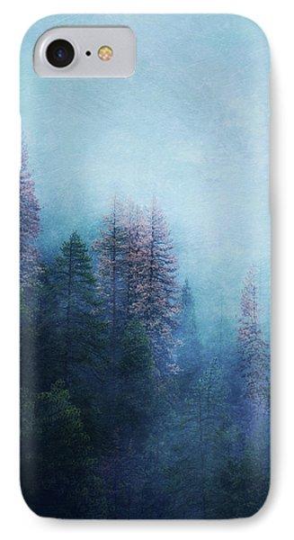 IPhone Case featuring the digital art Dreamy Winter Forest by Klara Acel