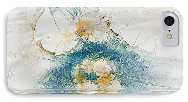 Dreamy World In Blue Phone Case by Deborah Benoit