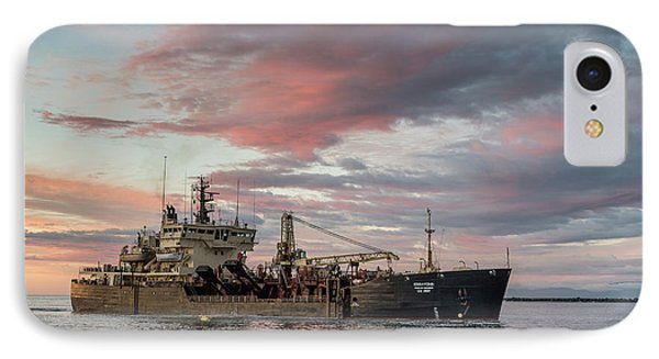 Dredging Ship IPhone Case by Greg Nyquist