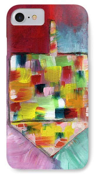 Dreidel Of Many Colors- Art By Linda Woods IPhone Case by Linda Woods