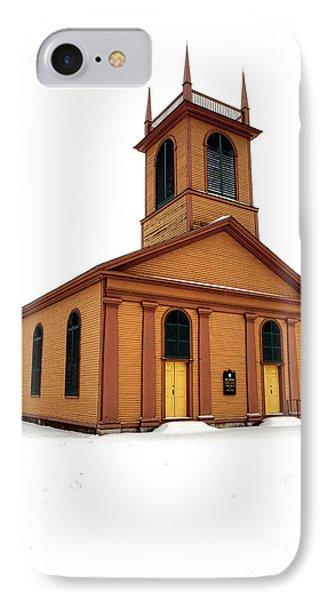Dresden St John Episcopal Church In Snow IPhone Case
