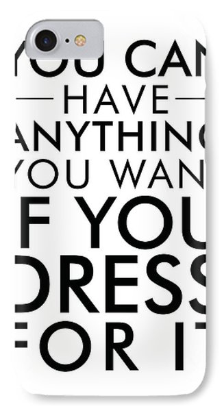 Dress For It IPhone Case