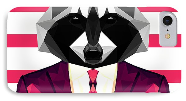 Dressed Raccoon IPhone Case by Gallini Design