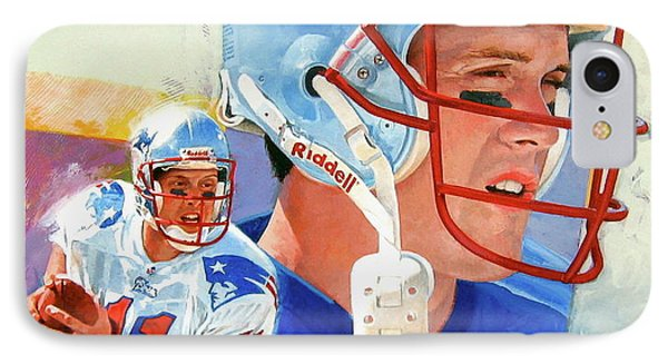 Drew Bledsoe IPhone Case by Cliff Spohn