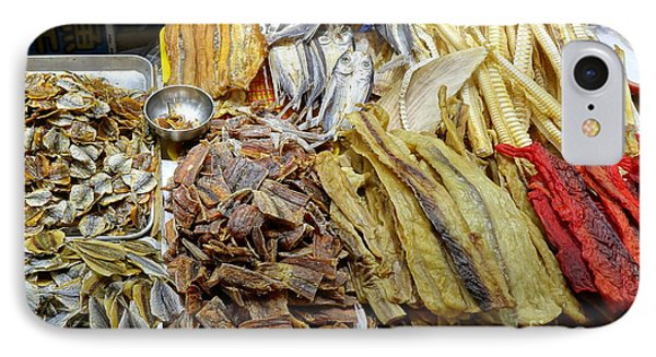IPhone Case featuring the photograph Dried Fish Is Sold At The Market by Yali Shi