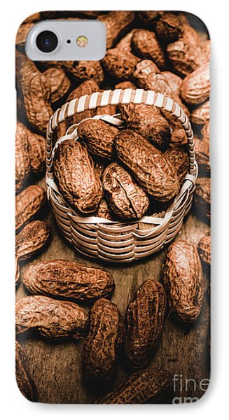 Dried Whole Peanuts In Their Seedpods IPhone Case by Jorgo Photography - Wall Art Gallery