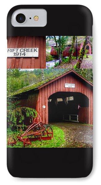 Drift Creek Covered Bridge IPhone Case