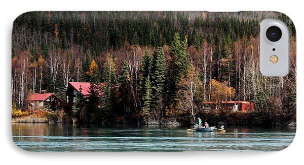 Drift Fishing On The Kenai IPhone Case by Theresa Willingham