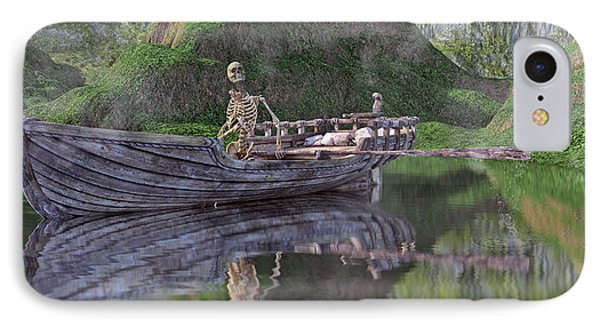 Drifter On The Lake IPhone Case by Betsy Knapp