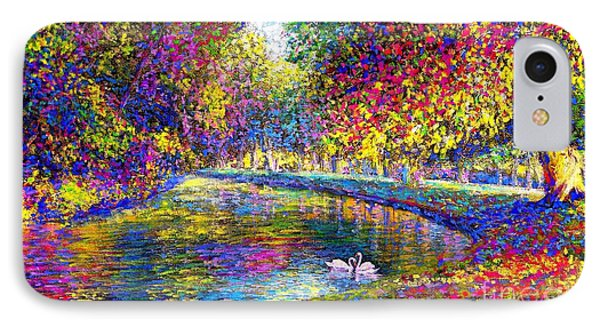 Drifting Beauties, Swans, Colorful Modern Impressionism IPhone 7 Case