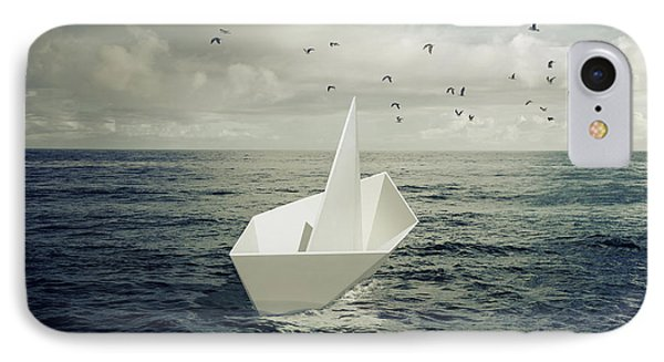 IPhone Case featuring the photograph Drifting Paper Boat by Carlos Caetano
