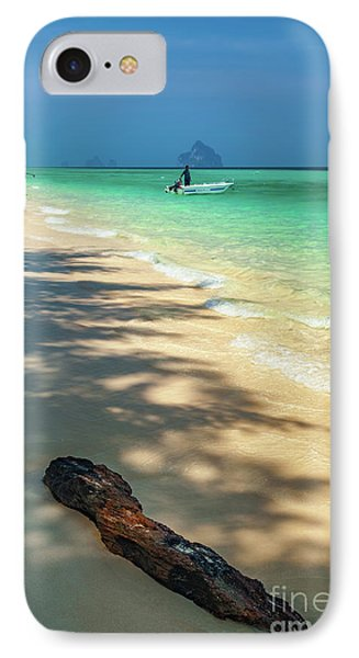 Driftwood On The Beach IPhone Case by Adrian Evans