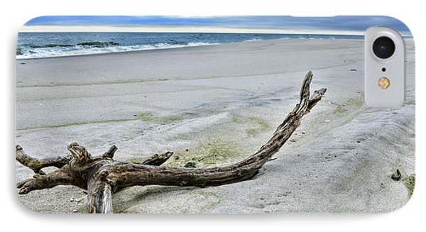 Driftwood On The Beach IPhone Case by Paul Ward