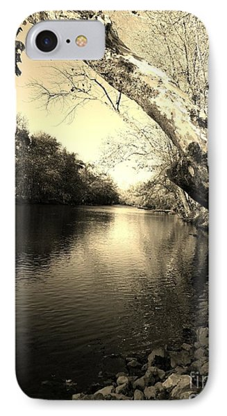 Driftwood River Southern Indiana -sepia IPhone Case
