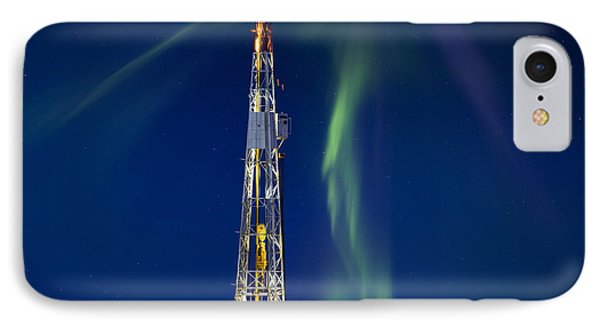 Drilling Rig Saskatchewan IPhone Case by Mark Duffy