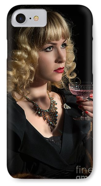 Drinking Pink Champagne IPhone Case by Amanda Elwell