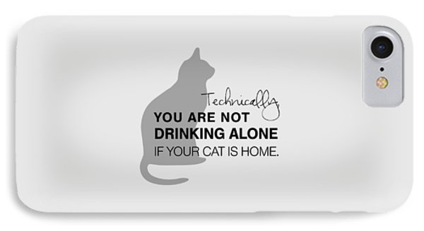 Cat iPhone 7 Case - Drinking With Cats by Nancy Ingersoll