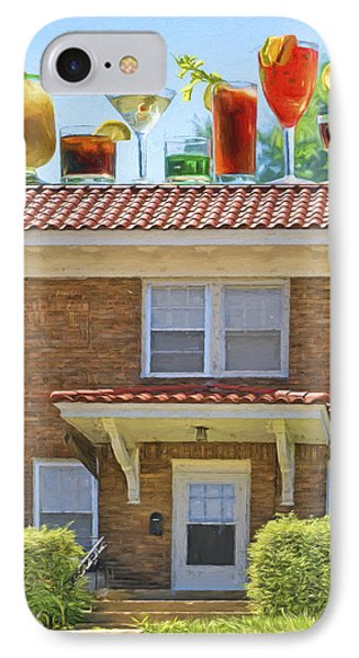 Drinks On The House IPhone Case by Nikolyn McDonald
