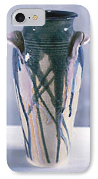 Drip Glazed Stoneware Wheel Thrown Vase Phone Case by Carolyn Coffey Wallace