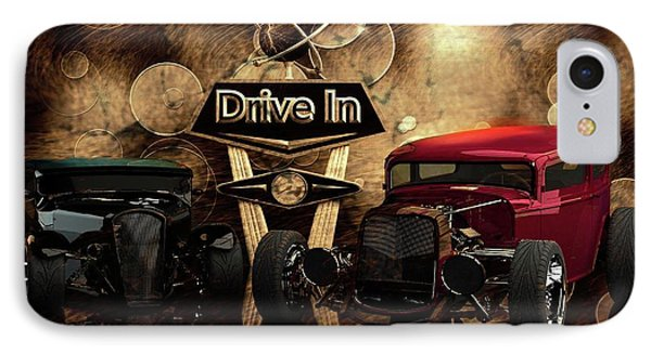 IPhone Case featuring the photograph  Drive In by Louis Ferreira