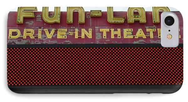 Drive Inn Theatre IPhone Case by David Lee Thompson