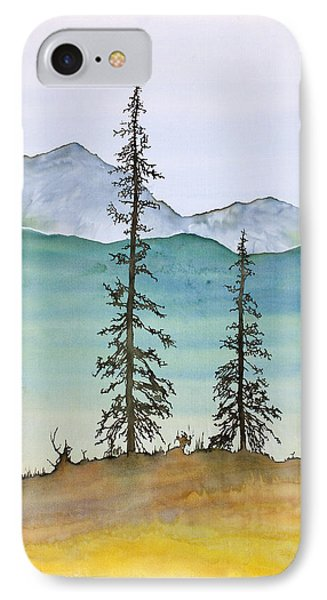 Drive To Eagle And Sketching On A Bumpy Road IPhone Case by Carolyn Doe