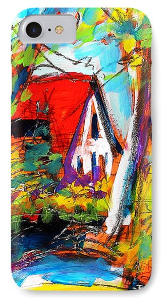 IPhone Case featuring the painting Driveway Revisited by Les Leffingwell