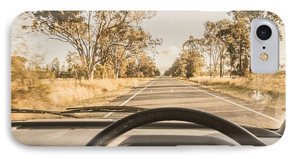 Driving On Rural Australian Road IPhone Case