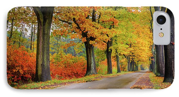 IPhone Case featuring the photograph Driving On The Autumn Roads by Dmytro Korol