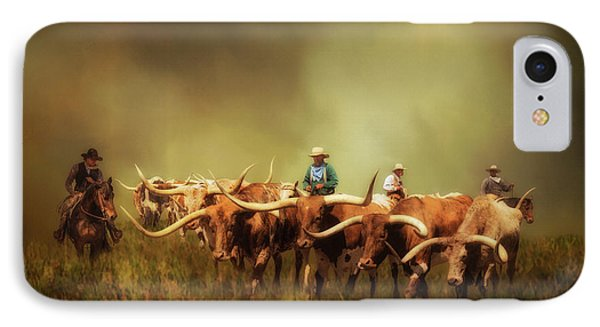 Driving The Herd IPhone Case by Priscilla Burgers