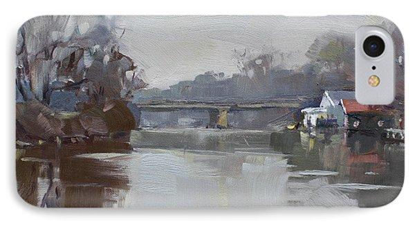 Drizzling At Tonawanda Canal  IPhone Case by Ylli Haruni