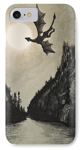 IPhone Case featuring the painting Drogon's Lair by Suzette Kallen