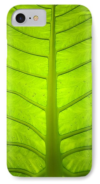 Droplets On Green Leaf IPhone Case by Bill Brennan - Printscapes