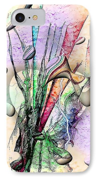 IPhone Case featuring the digital art Drops Art By Nico Bielow by Nico Bielow