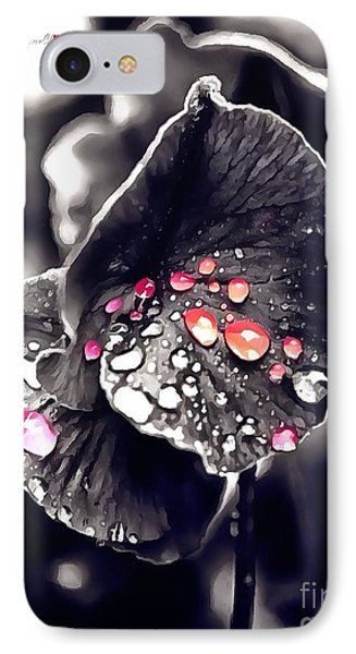 Drops Of Jupiter In Thick Paint IPhone Case by Catherine Lott