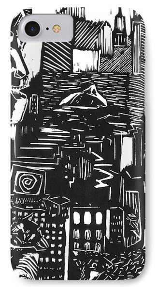 Drowning In Metropolis IPhone Case by Darkest Artist