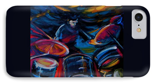 Drummer Craze IPhone Case by Jeanette Jarmon