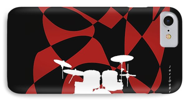Drums In Black Strife IPhone Case