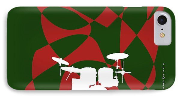 Drums In Green Strife IPhone Case