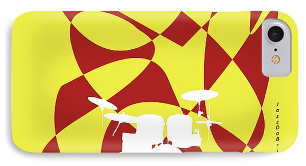 Drums In Yellow Strife IPhone Case