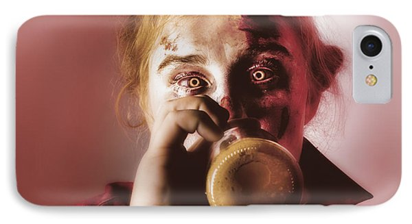 Drunk Ghoul Sculling Beer At Halloween Party IPhone Case by Jorgo Photography - Wall Art Gallery