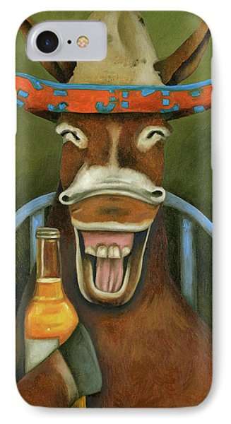 Drunken Dumb Ass IPhone Case by Leah Saulnier The Painting Maniac