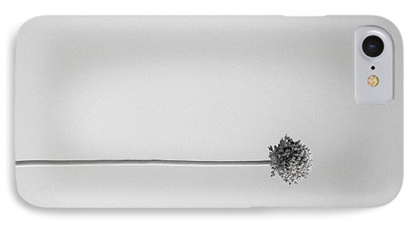 Dry Flower - Black And White Art Photo IPhone Case by Modern Art Prints