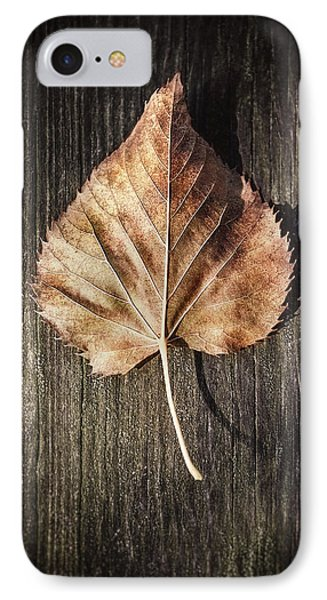 Dry Leaf On Wood IPhone Case