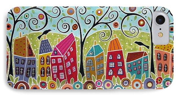 Dsc01598-swirl Tree Village IPhone Case