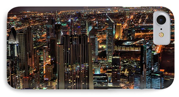 Dubai At Night IPhone Case by Shawn Everhart