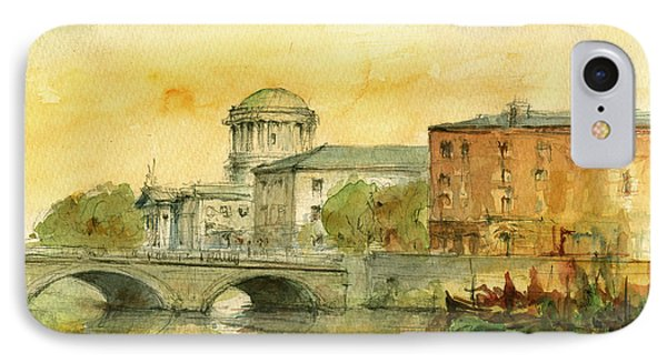 Dublin Cityscape IPhone Case by Juan  Bosco