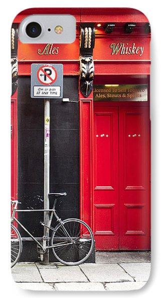 Dublin Red Pub Phone Case by Rae Tucker